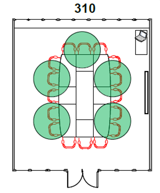 Diagram of Room 310 seating