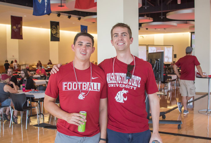 Two cougar football fans